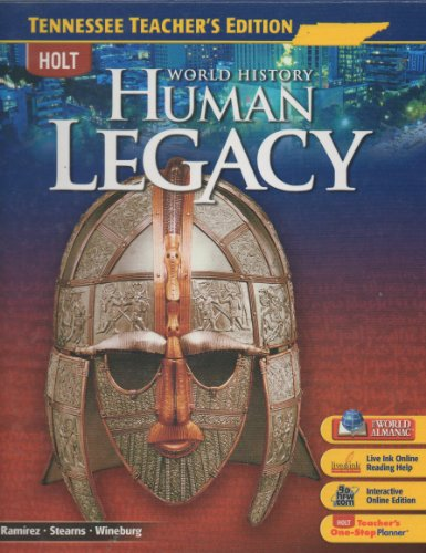 9780030963896: Tennessee World History Teacher Edition (Human Legacy)