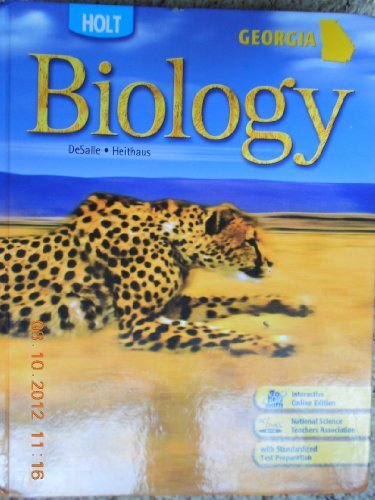 Holt Biology Georgia: Holt Biology Student Edition: RINEHART AND WINSTON