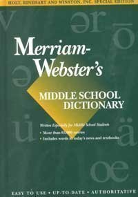 Holt McDougal Library: Merriam-Webster's Dictionary Grades 6-8: HOLT MCDOUGAL