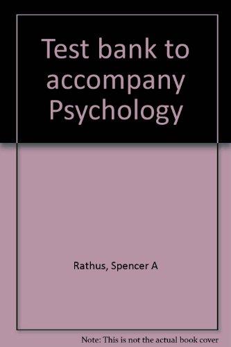9780030965197: Test bank to accompany Psychology
