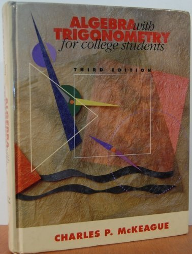 9780030965616: Algebra with Trigonometry for College Students