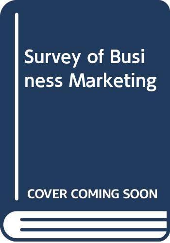 9780030966101: Survey of Business Marketing