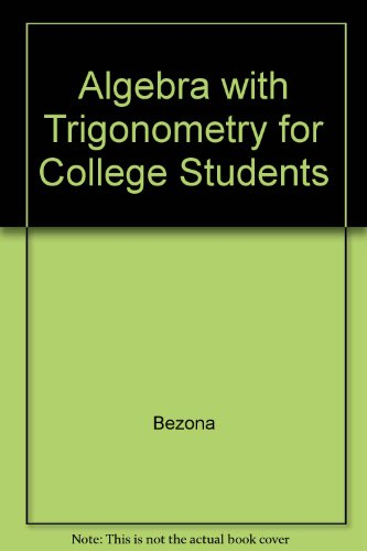 9780030966378: Algebra with Trigonometry for College Students