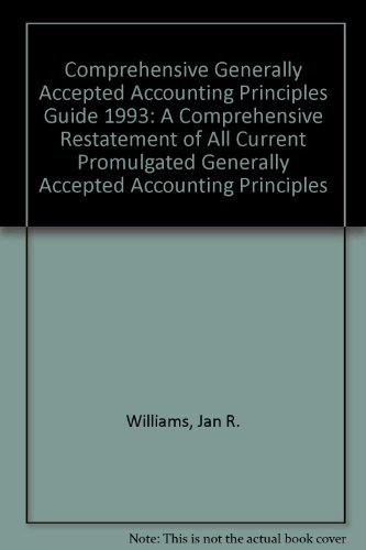 9780030967689: Hbj Miller Comprehensive Gaap Guide, 1993: A Comprehensive Restatement of All Current Promulgated Generally Accepted Accounting Principles