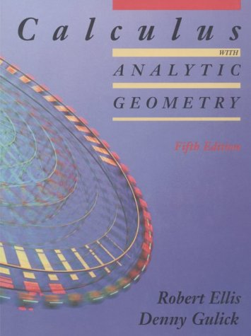 9780030968006: Calculus with Analytic Geometry