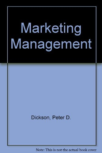 9780030968471: Marketing Management (The Dryden Press series in marketing)