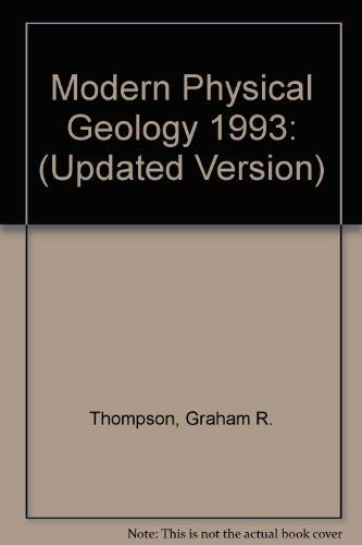 9780030969102: Modern Physical Geology/Update (Saunders golden sunburst series)