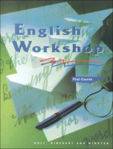 HRW English Workshop: Student Edition Grade 7: HOLT, RINEHART AND WINSTON