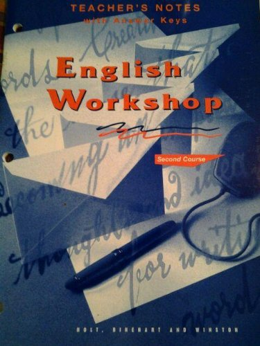 English Workshop Second Course Teachers Notes with Answer Key