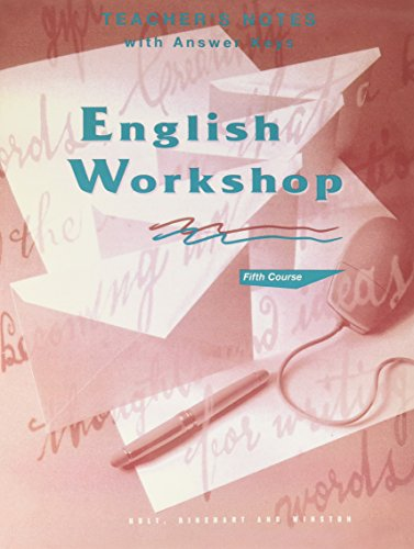 9780030971921: English Workshop Fifth Course (Grade11) Teacher's Notes and Answer Key