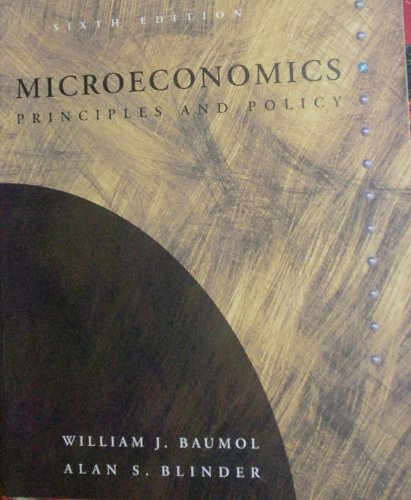Microeconomics: Principles Anf Polivy
