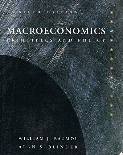 9780030974540: Macroeconomics: Principles and Policy (The Dryden Press Series in Economics)
