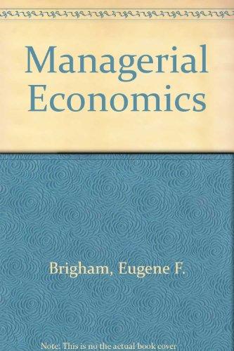 9780030974922: Managerial Economics