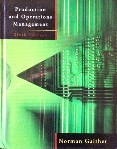 9780030975615: Production and Operations Management (The Dryden Press Series in Management Science and Quantitative Methods)