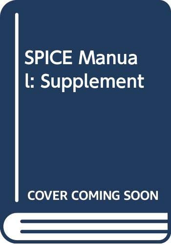 9780030976650: SPICE Manual: Supplement