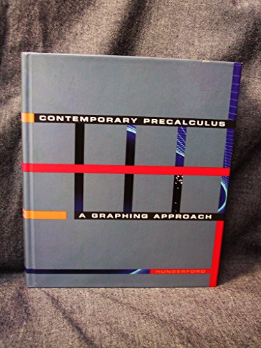 9780030976919: Contemporary Pre-Calculus: A Graphing Approach