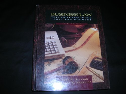 9780030977336: Business Law: Text and Cases