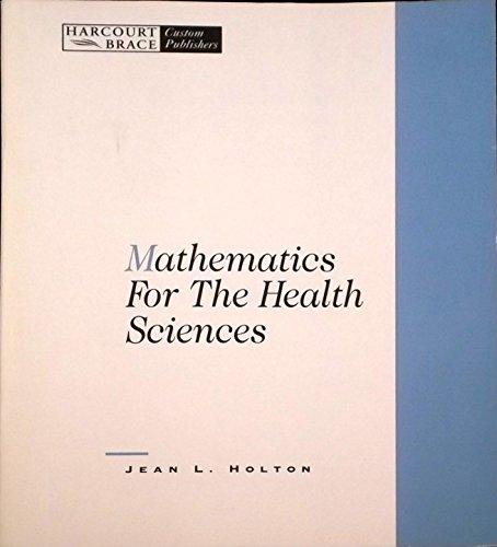 9780030977909: Mathematics for Health Sciences