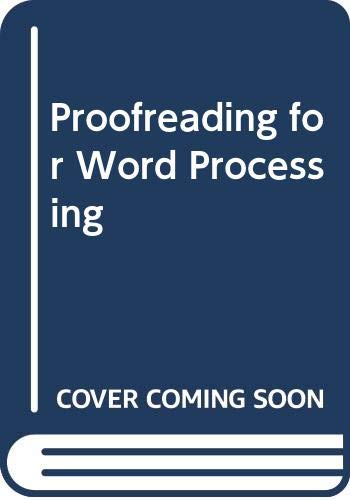 9780030980114: Proofreading for Word Processing