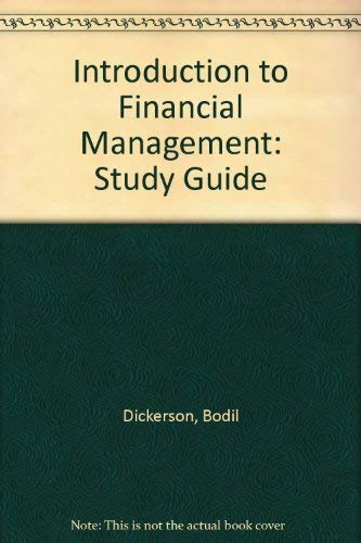9780030980770: Introduction to Financial Management: Study Guide