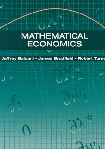 9780030981456: Mathematical Economics (The Dryden Press Series in Economics)