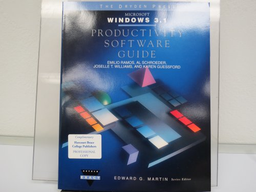 9780030982309: Productivity Software Guides with Windows 3.1 (The Productivity software guide series)
