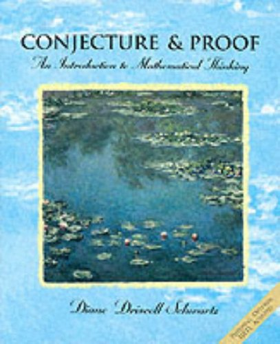9780030983382: Conjecture and Proofs: An Introduction to Mathematical Thinking