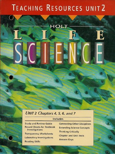Holt Life Science - Teaching Resources -: None Listed