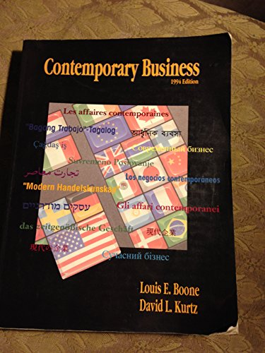 9780030984723: Contemporary Business (The Dryden Press series in management)