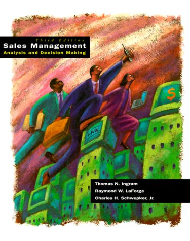 9780030985843: Sales Management: Analysis and Decision Making (The Dryden Press Series in Marketing)
