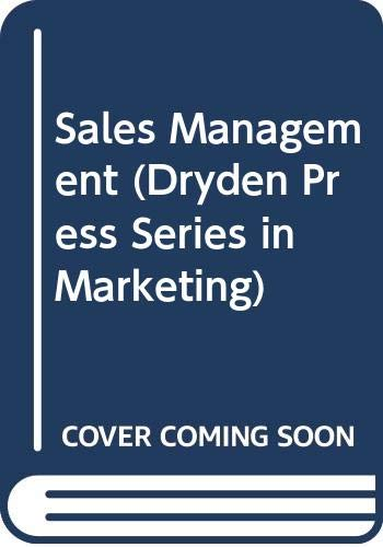 9780030986673: Sales Management (Dryden Press Series in Marketing)