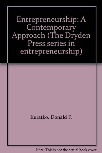 9780030987243: Entrepreneurship: A Contemporary Approach