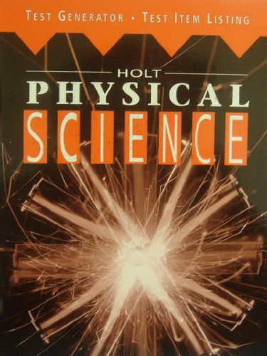 9780030988783: Holt Physical Science. Test Generator. Test Iten Listing