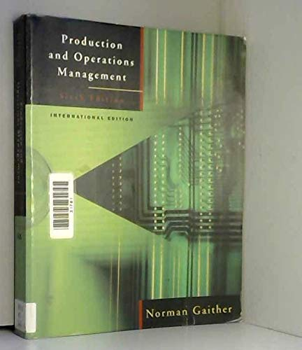 9780030989353: Production and Operations Management: A Problem-solving and Decision-making Approach
