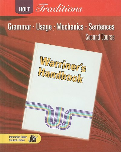 9780030990014: Warriner's Handbook: Second Course: Grammar, Usage, Mechanics, Sentences