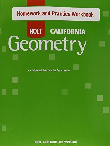 holt geometry homework and practice workbook answer key