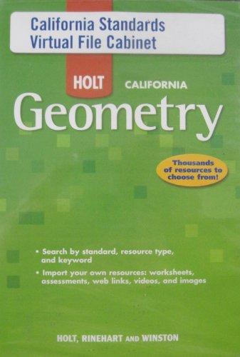 9780030990274: California Standards Virtual File Cabinet (Holt California Geometry)