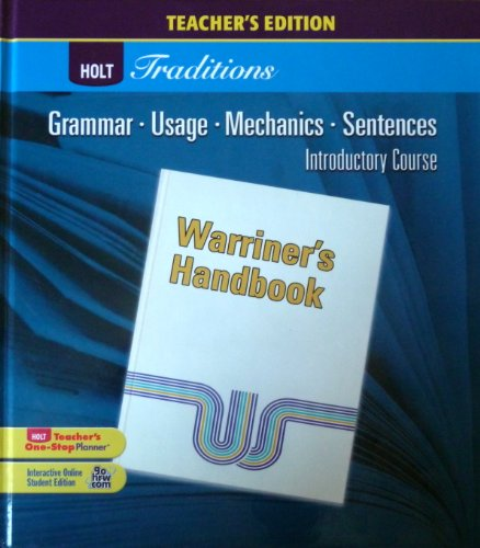 9780030990359: Holt Traditions Warriner's Handbook: Teacher's Edition Introductory Course Grade 6 2008