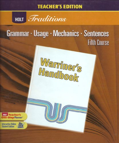 Te Warriners Hndbk 2008 Gr 11: HMH