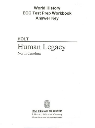 North Carolina Holt World History: Human Legacy: Michie, Jonathan
