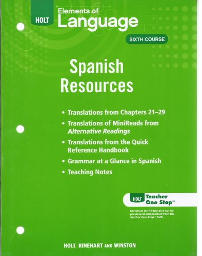 9780030991318: Spanish Resources Eolang 2009 Gr 12