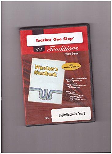 9780030991400: Holt Traditions Warriner's Handbook: Teacher's One-Stop Planner CD-ROM Second Course Grade 8