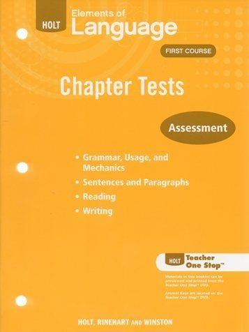 Holt Elements of Language First Course Chapter: Various