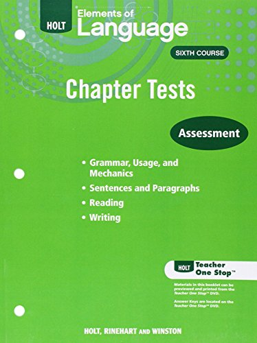9780030991547: Elements of Language Sixth Course Chapter Tests Assessment
