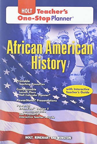 9780030991660: Holt African American History Teacher's One Stop Planner