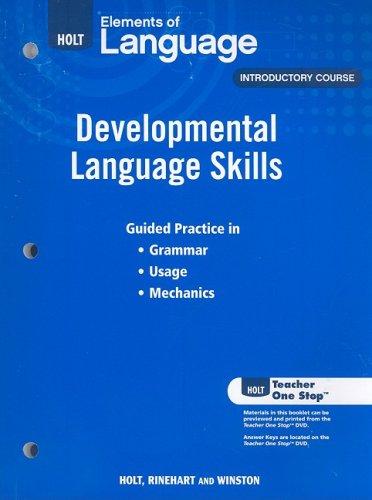 9780030991950: Elements of Language: Developmental Language Skills Grade 6