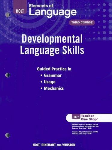 9780030991974: Elements of Language: Developmental Language Skills