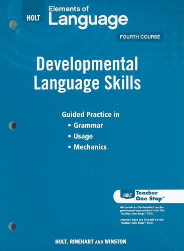 9780030991981: Elements of Language: Developmental Language Skills
