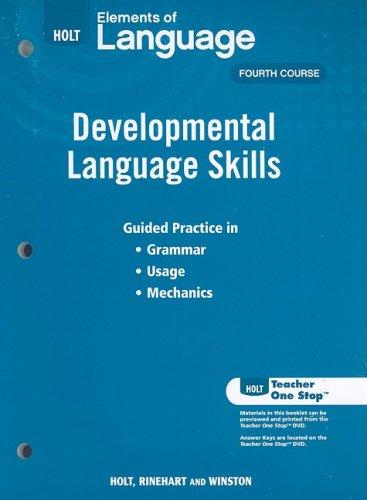 9780030991981: Elements of Language: Developmental Language Skills