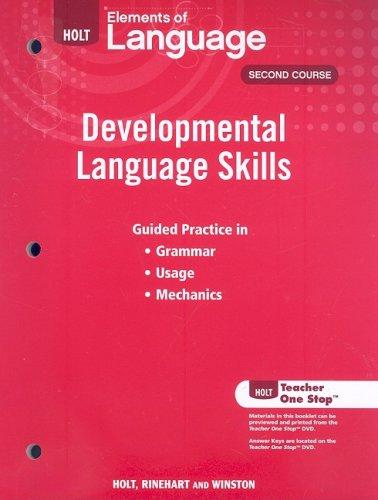 9780030992025: Elements of Language: Developmental Language Skills Grade 8